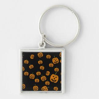 Jack O Lanterns background Keychain