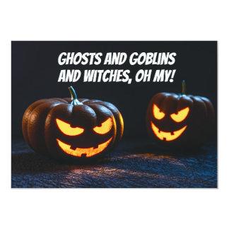 Jack O' Lanterns Halloween Party Invite
