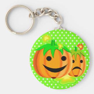 Jack o lanterns basic round button key ring
