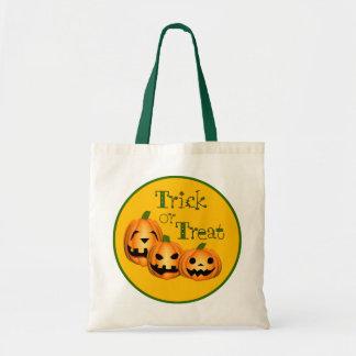 Jack-O'-Lanterns trick or treat bag