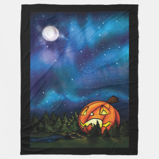 Jack-o-Moon Fleece Blanket