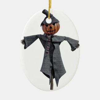 Jack O Scarecrow Ceramic Ornament