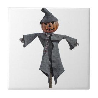 Jack O Scarecrow Ceramic Tile