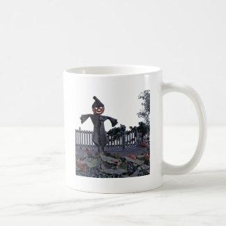 Jack O Scarecrow in a Pumpkin Patch Coffee Mug
