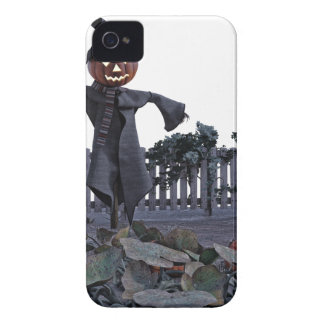 Jack O Scarecrow in a Pumpkin Patch iPhone 4 Case-Mate Cases