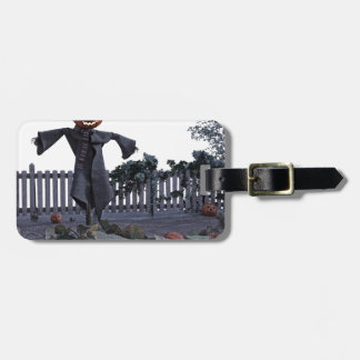 Jack O Scarecrow in a Pumpkin Patch Luggage Tag