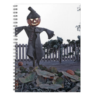 Jack O Scarecrow in a Pumpkin Patch Notebooks