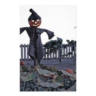 Jack O Scarecrow in a Pumpkin Patch Stationery
