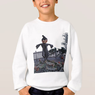 Jack O Scarecrow in a Pumpkin Patch Sweatshirt