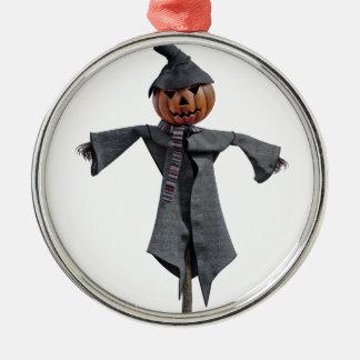 Jack O Scarecrow Metal Ornament
