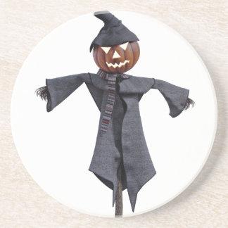 Jack O Scarecrow with Bright Eyes Coaster