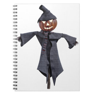 Jack O Scarecrow with Bright Eyes Notebooks