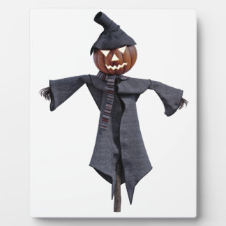 Jack O Scarecrow with Bright Eyes Plaque