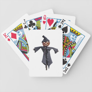 Jack O Scarecrow with Bright Eyes Poker Deck