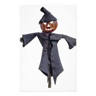Jack O Scarecrow with Bright Eyes Stationery