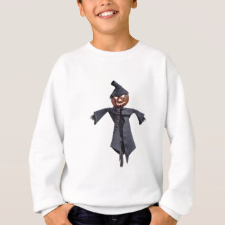 Jack O Scarecrow with Bright Eyes Sweatshirt