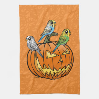 Jack O'Budgies Tea Towel