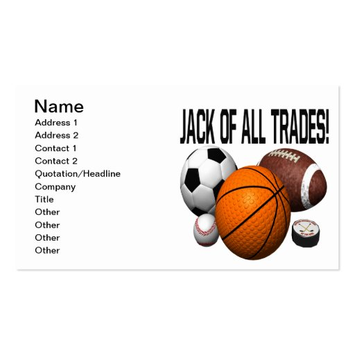 Jack Of All Trades Business Cards