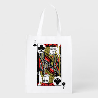 Jack of Clubs Reusable Grocery Bag