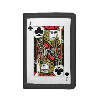 Jack of Clubs Trifold Wallets