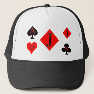 Jack Of Diamonds Playing Cards Trucker Hat