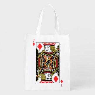 Jack of Diamonds Reusable Grocery Bag