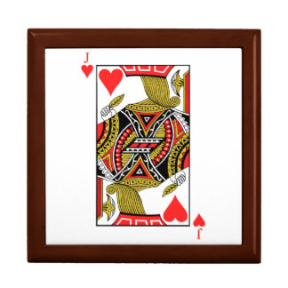 Jack of Hearts - Add Your Image Large Square Gift Box