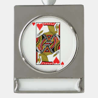 Jack of Hearts - Add Your Image Silver Plated Banner Ornament