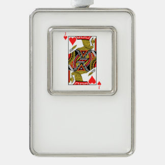 Jack of Hearts - Add Your Image Silver Plated Framed Ornament