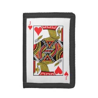 Jack of Hearts - Add Your Image Tri-fold Wallets