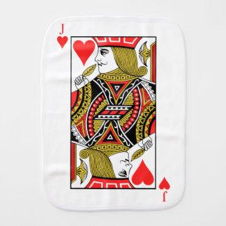 Jack of Hearts Burp Cloth