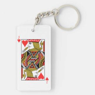 Jack of Hearts Key Ring