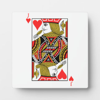 Jack of Hearts Photo Plaque