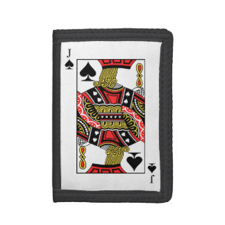 Jack of Spades - Add Your Image Tri-fold Wallet