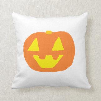 Jack O'Lantern Front Happy Halloween Back Cushion