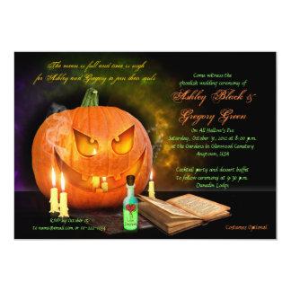 Jack O'Lantern Halloween Wedding Invitation