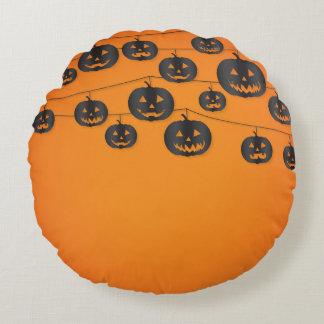 Jack O'lantern string Round Cushion