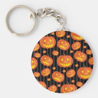 Jack O'Lanterns! Basic Round Button Key Ring