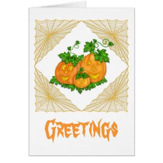Jack O'Lanterns Halloween Greeting Card
