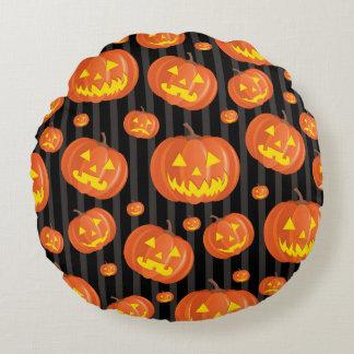 Jack O'Lanterns! Round Cushion