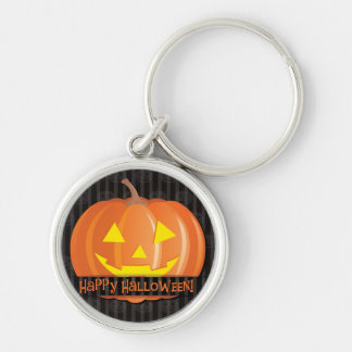 Jack O'Lanterns! Silver-Colored Round Key Ring