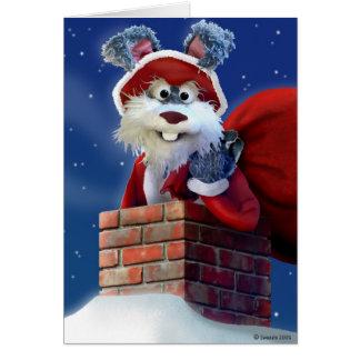 Jack Rabbit Santa card