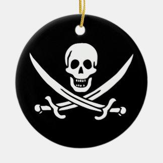 Jack Rackham Pirate Flag Ceramic Ornament