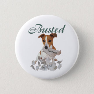 Jack Russel Busted 6 Cm Round Badge