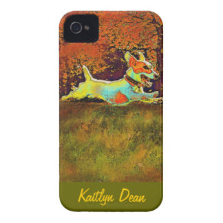 jack russel in autumn iphone case