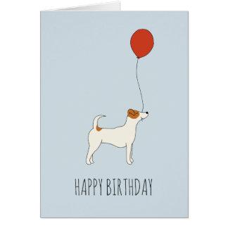 Jack Russel Terrier Birthday Card