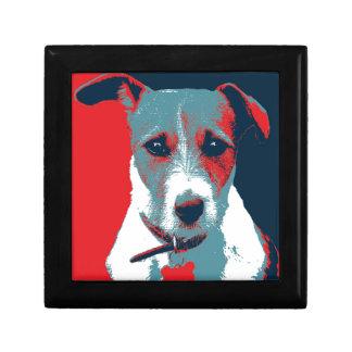 Jack Russel Terrier Political Hope Parody Trinket Boxes