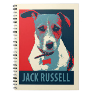 Jack Russel Terrier Political Hope Parody Spiral Note Book