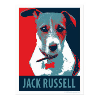 Jack Russel Terrier Political Hope Parody Postcard