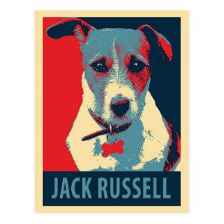 Jack Russel Terrier Political Hope Parody Postcards